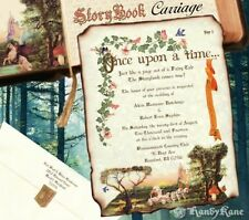 qty 50 Storybook Scroll Wedding Invitations Carriage FairyTale Invites