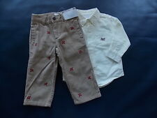 NWT Boy's Gymboree Ace Pilot airplane shirt & pants ~ 6 12 18 24 months 2T 3T