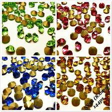 SS38 (8.0mm) Point back Rhinestones Crystal Glass Chatons Strass 144ps