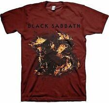 AUTHENTIC BLACK SABBATH 13 THIRTEEN OZZY METAL MUSIC MAROON T SHIRT S M L XL 2XL