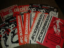 Bournemouth HOME programmes 1970's choose from list FREE UK P&P