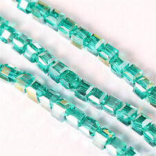 Wholesale Faceted Square Cube Cut Glass Crystal Beads Loose Beads Jewelry Making