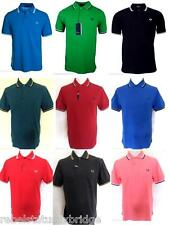 FRED PERRY T-Shirt Men's Twin Tipped Polo Regular Fit M1200 Various Colours