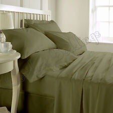 Sale-Complete Bedding Collection 1000TC Egyptian Cotton Moss Solid In All Size