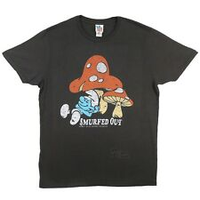 Smurfs Smurfed Out Vintage Junk Food Licensed Adult Shirt S-XXL