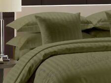 Sale-Complete Bedding Collection 1000TC Egyptian Cotton Moss Stripe In All Size