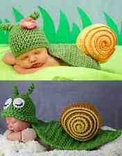 Baby Crochet Snail Hat Shell Outfit Set Photo Photography Prop Costume Boy Girl