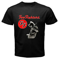 New DAVE GROHL Foo Fighters Logo Rock Band Men's Black T-Shirt Size S - 3XL