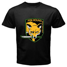 New FOXHOUND Metal Gear Solid Special Force Group Men's Black T-Shirt Size S-3XL