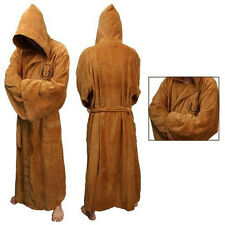 Star Wars Obi-Wan Jedi  Brown Terry Costume Fleece Hooded Toweling Bath Robe
