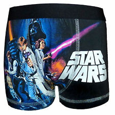 Star Wars Official Gift 1 Pack Boys Boxer Shorts Black (RRP £7.99!)