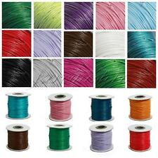 90M by Roll 1/1.5mm Waxed Cotton Cords Wax Bead Jewelry String Beading 20 Color
