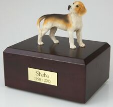 Beagle Pet Funeral Cremation Urn Available in 3 Different Colors & 4 Sizes
