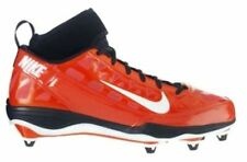 NEW Mens NIKE Air Zoom Super Bad 3 D Orange Black Whi Detachable Football Cleats