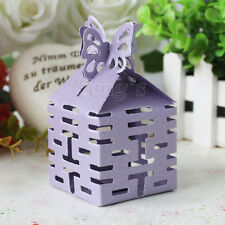 Purple Butterfly Top Double Happiness Wedding Party Baby Shower Favor Gift Box