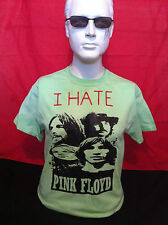 SEX PISTOLS/ JOHNNY ROTTEN /PUNK ROCK I HATE PINK FLOYD RETRO GREEN T-SHIRT