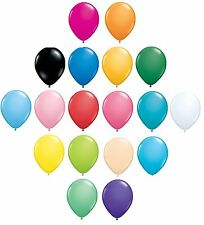Pack of 6 Qualatex Latex Balloons - Standard/Fashion Colours - All Sizes(Helium)