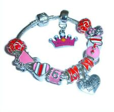 Charm Bracelet Girls Princess Birthday Age to Personalise Initial