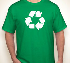 RECYCLE recycling global warming/save the earth/planet go green T-shirt S-5XL