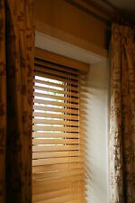 50mm Quality Real Wooden Venetian Blinds Upto 240cm Wide x 240cm Drop(6 Colours)