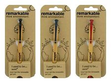 Gel Pens by Remarkable Eco Factory Black, Blue or Red Ink FSC Sustainable Timber
