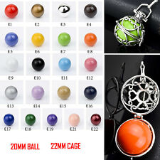 Silver Plated Sound Chime Musical Angel Caller Mexican Bola Harmony Ball Pendant