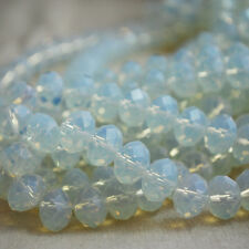 30 x Gemstone Opalite Moonstone Faceted Rondelle Disc Beads 8 - 12mm