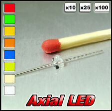 A373# Axial LED Available white, warm white, red, blue, yellow, orange, green