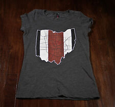 Ohio state buckeyes ladies t shirt with map of columbus and ohio state helmet st