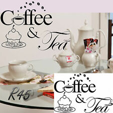 Coffee Or Tee And Cake Sign Decal Vinyl Sticker Window Pubs Hotels Cafes Bars