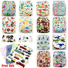 Shine Baby Infant Printed Cloth Diaper Cover Reusable Nappy Covers Liner Insert