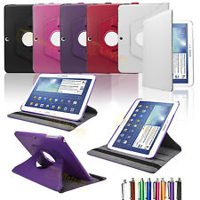 """360 Rotating Leather Case Cover FOR SAMSUNG GALAXY TAB 3 10.1"""" P5200 P5210 P5220"""