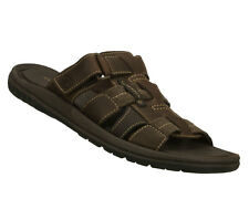 "New! Skechers Men's Ribble - ""Tellez"" Slide Sandals in Dark Brown NICE LOOK!"