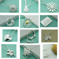 Wholesale New Fashion Womens Sterling solid silver Chain Necklace + gift box NS1