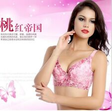 Womens Ladies SCULPTED Push Up Embroidery Plunge Embroidered Underwired Bra F160