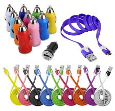 CABLE MICRO USB 5 PIN COULEUR etou CHARGEUR VOITURE BLACKBERRY NOKIA HTC LG SONY