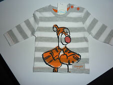 DISNEY Really Cute Little Grey and White Stripe TIGGER Long Sleeved Top  NWT