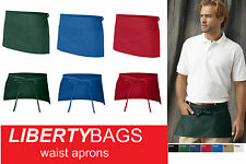 "60Liberty Bags - 3 Pocket Waist Apron 5501 20"" x 10"" Waiter WholeSale"