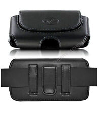Leather Sideways Horizontal Belt Clip Case Pouch Cover for LG Cell Phones NEW!