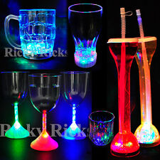 LED Light-Up Drink Glasses Flashing Acrylic Blinking Cola Beer Glass Barware