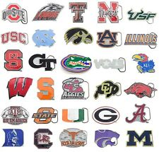 NCAA Football Cut Out Logo Oficial Licensed Pewter Belt Buckle