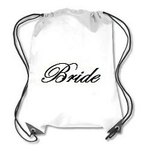 Bride Bridesmaid Bridal Shower Wedding Favor Bag Drawstring Sports Backpack