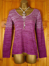 NEW NEXT LADIES PURPLE SILVER SEQUIN LONG SLEEVE JUMPER TUNIC TOP UK SIZE 8-18