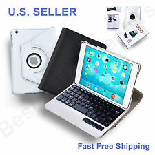 360 Degree Rotary Stand Case Cover Bluetooth Wireless Keyboard for iPad Mini