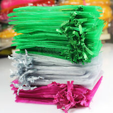25/50/100 pieces Organza Xmas Wedding Favors Jewelry Pouches Gift Bags FREE S/H