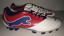 NEW Mens Sz 8.5 13 PUMA Powercat PWR C 1.12 FG White Red Blue Soccer Cleats