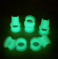 PAIR-Silicone Glow In the Dark Ear Gauges-Ear Plugs-Flesh Tunnels
