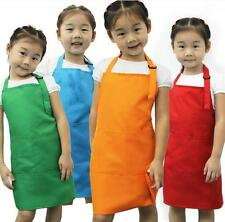 2 Pocket Bib Kid Child Baby Aprons Adjustable Design Kitchen Cooking Craft Apron