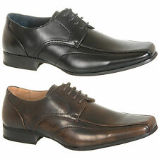 Mens New Black / Brown Lace Up Formal Shoes Uk Size 6 7 8 9 10 11 12