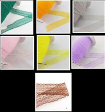 Wholesale 10 yards and embroidery lace ribbon and color of choice 7 color